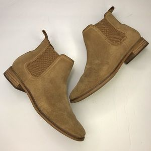 TOMS Tan Suede Pull On Ankle Bootie Size 8